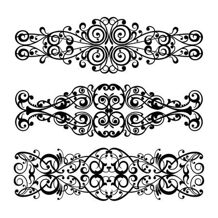 calligraphic design: Vector set calligraphic element and page decoration