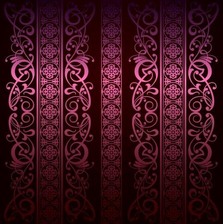 royal rich style: Royal vintage damask vector background