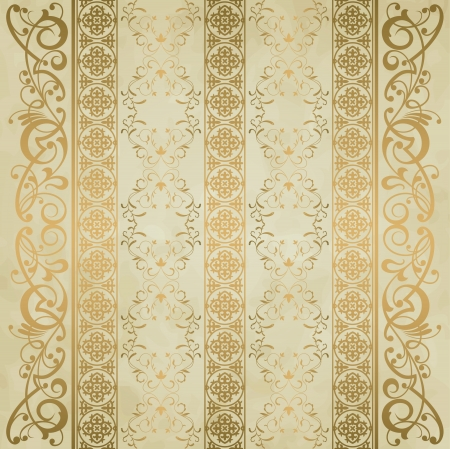 royal background: Royal vintage damask vector background