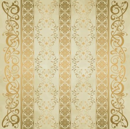 antiek behang: Royal vintage damast vector achtergrond Stock Illustratie