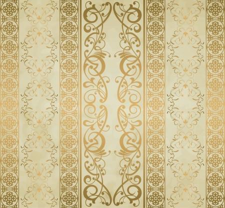 Royal vintage damask vector background Banco de Imagens - 17892992