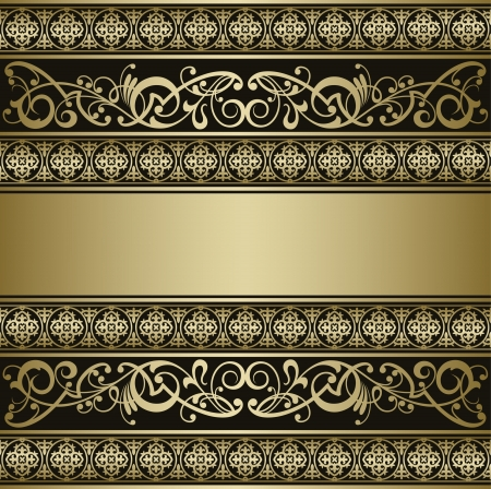 ornamental scroll: Vintage vector background Illustration