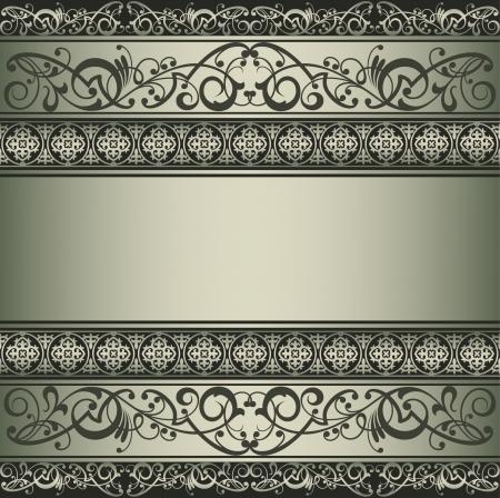 seamless damask: Fondo vector vintage