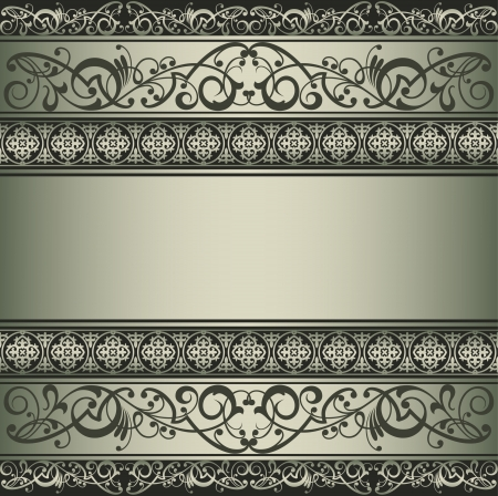 luxurious seamless wallpaper: Vintage vector background Illustration