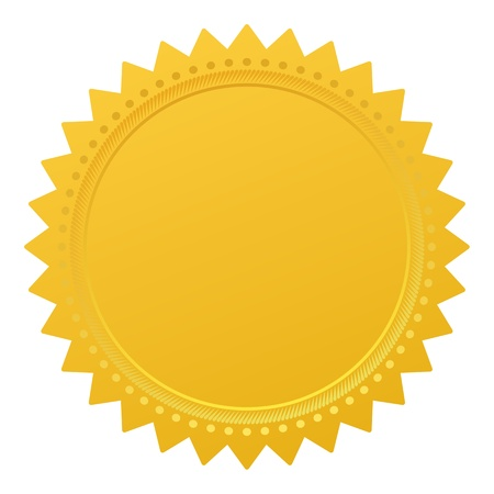 Blank guarantee vector element sign certificate Vector