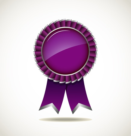 Award Rosette - Ribbon Icon Stock Vector - 18060303