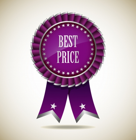 Award Rosette - Ribbon Icon - EPS10 Vector