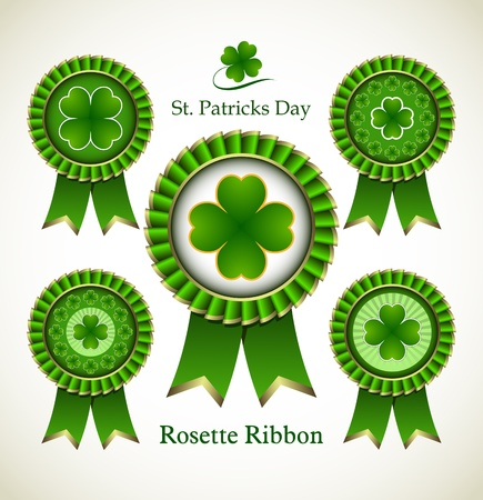 Rosette Ribbon for happy St. Patricks Day Stock Vector - 18214216
