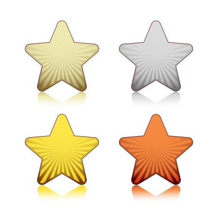 Rating stars Stock Vector - 18214209