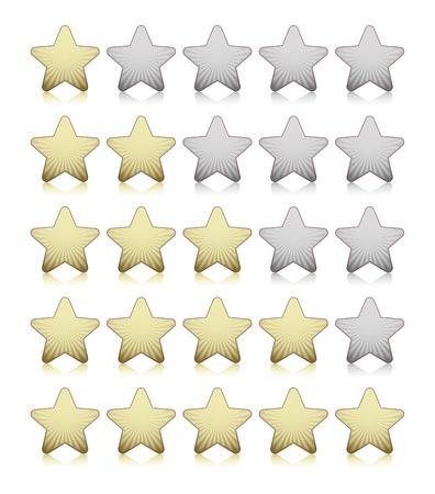 Rating stars Stock Vector - 18214214
