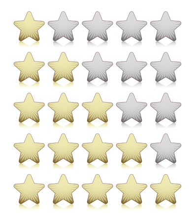 Rating stars Stock Vector - 18214214