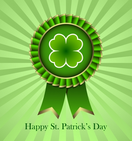 Rosette Ribbon for happy St. Patricks Day Stock Vector - 18214220