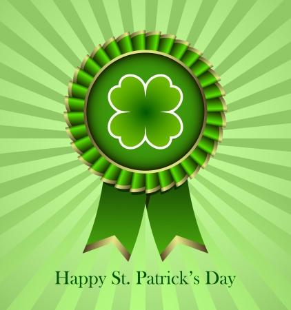 Rosette Ribbon for happy St. Patricks Day Stock Vector - 18214220