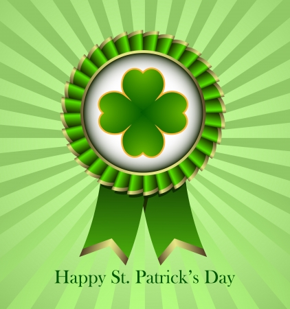 Rosette Ribbon for happy St. Patricks Day Stock Vector - 18214221