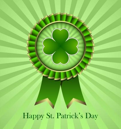 Rosette Ribbon for happy St. Patricks Day Vector