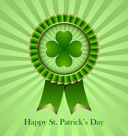 march 17: Rosette Ribbon for happy St. Patricks Day