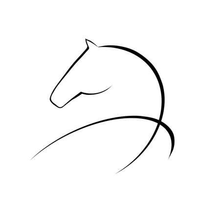 caballos negros: Caballo s�mbolo Vectores