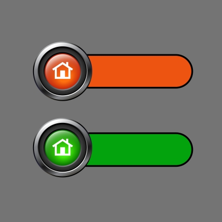 Home web buttons for website Stock Vector - 18733551