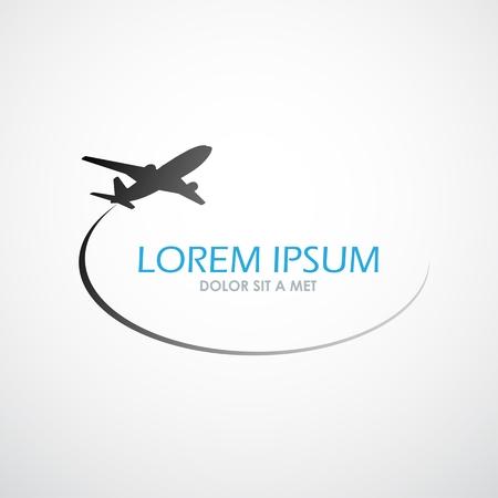 Vliegtuig symbool vector design