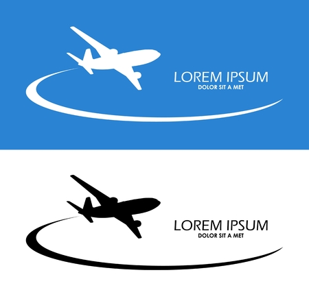 airplane landing: Airplane symbol vector design Illustration