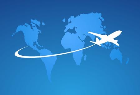 Airplane symbol vector design Ilustração