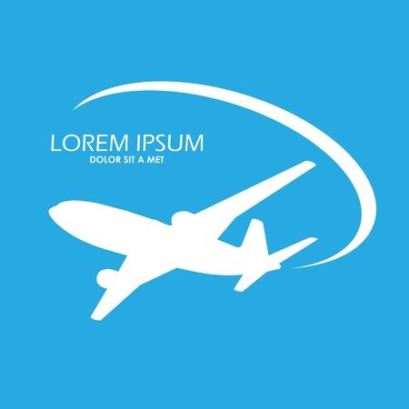 Airplane symbol vector design Illustration