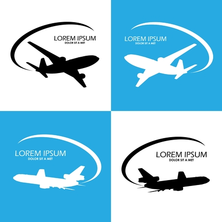 Airplane symbol vector design Vector