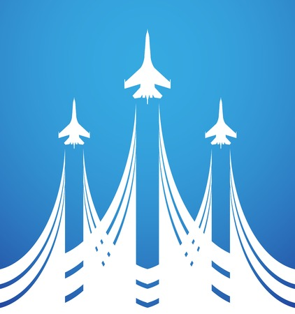 Airshow symbol vector design Illustration