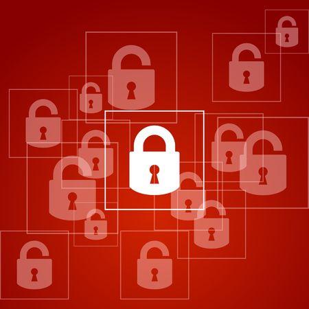 Concept Security  Lock on computer  Vector design Stock Vector - 27966815