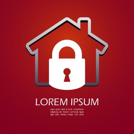 house keys: House lock icon Illustration