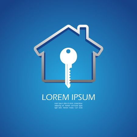 code lock: House lock icon Illustration