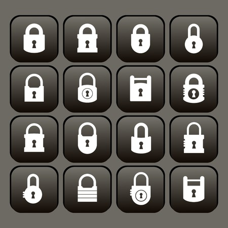security lock: Lock icon Illustration