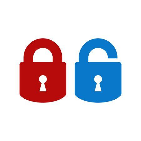 Lock-unlock icon Vector