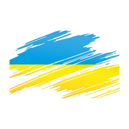 brush in: Flag Ukraine in the form traces brush isolated vector Illustration