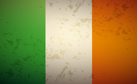 Flag Ireland isolated on grunge background vector Vector