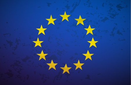 eu flag: Flag European Union isolated on grunge background vector Illustration