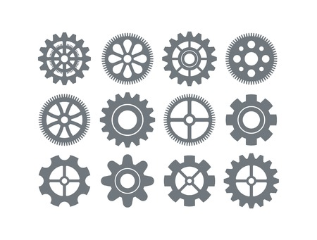 gear icon vector set Vector