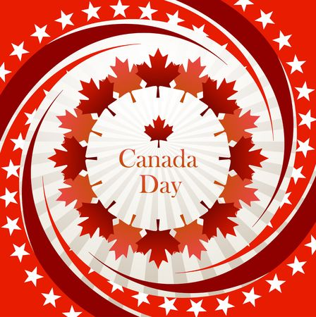 Canada Day vector background Vector
