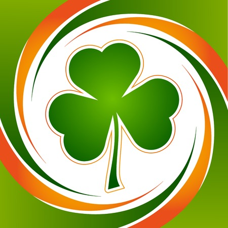 Clover leaf element for happy St  Patricks Day Vector