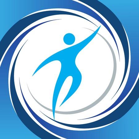 action figure: Sport fitness symbol vector element