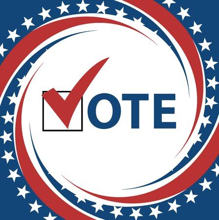 Voting Symbols vector design presidential election Illustration