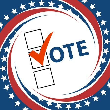 presidential: Voting Symbols vector design presidential election Illustration