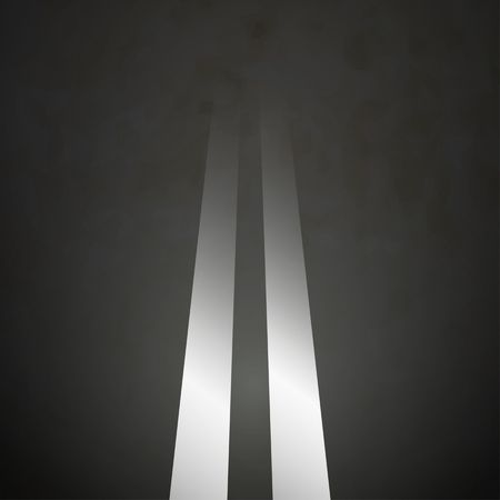 two way traffic: Road background double lines asphalt vector