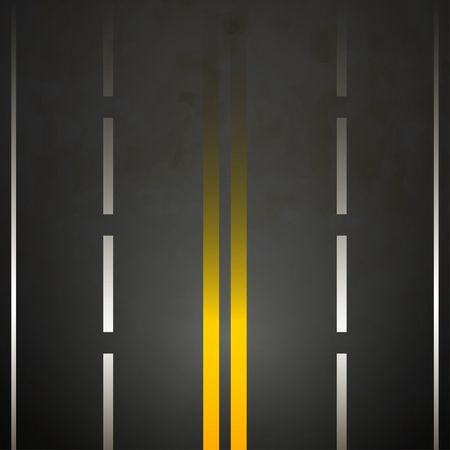 Road background yellow double lines asphalt vector Vector