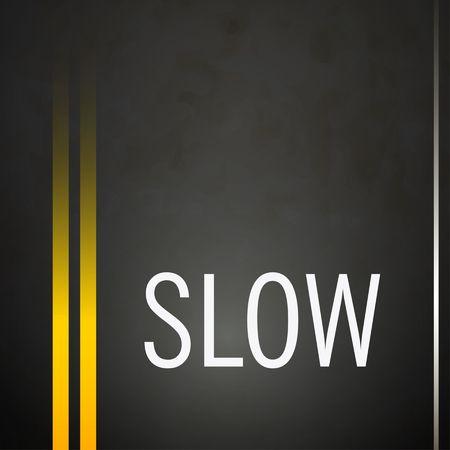 tarmac: Slow road ahead background yellow double lines asphalt vector
