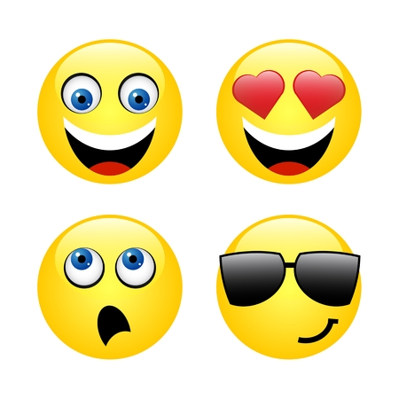 Characters of yellow emoticons Vector