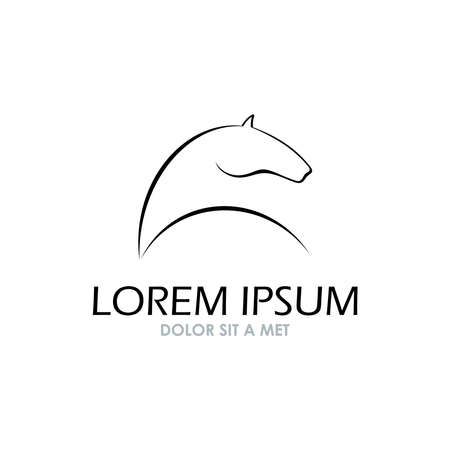 caballo negro: Símbolo Horse vector símbolo Abstact icono Corporativa Vectores