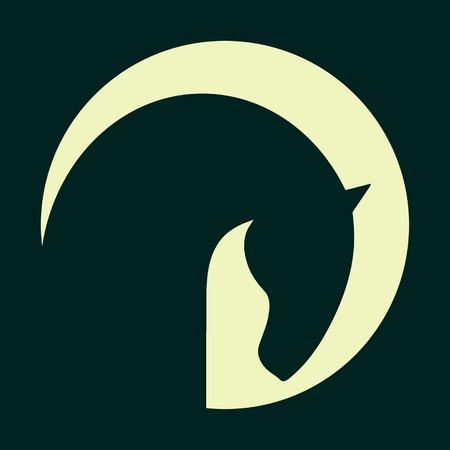 cabeza de caballo: Símbolo Horse vector símbolo Abstact icono Corporativa Vectores