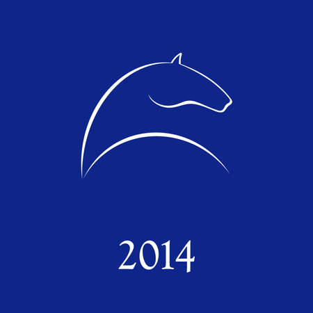 Horse symbol vector  New Year Symbol