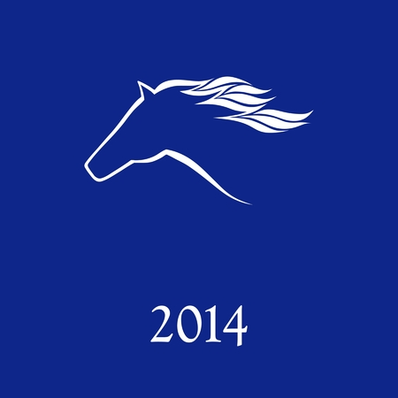 the year of the horse: Horse symbol vector  New Year Symbol